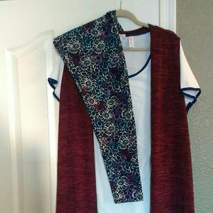 Lularoe joy vest, let go be and classic t